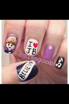 Justin bieber nails!!!! LOVE!!!!