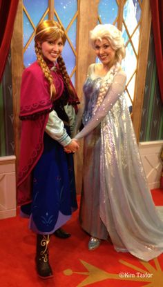 Frozen Meet and Greet Extended at Walt Disney World Epcot - Norway Pavilion -- Anna and Elsa from Frozen