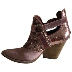 Glitter western boots Free People Other size 38 EU in Glitter - 7283753 Western Boots, Luxury Consignment, Free People, Ankle Boots, Wedges, Glitter, Bags, Shoes, Women