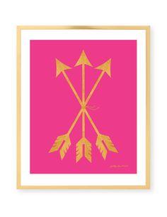 Pink Arrow Print by Pretty Chic SF