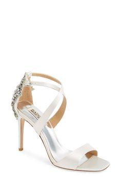 c163382985e0d0 Badgley Mischka  Cadence  Crystal Embellished Sandal (Women) available at   Nordstrom Bridal