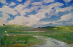 """A Google Maps - Google Street View transformed into an original oil painting by puci: """"Greensleeves New Zealand"""""""