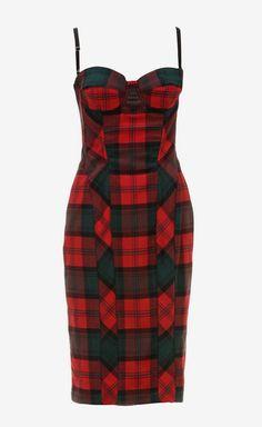 Dolce & Gabbana Red/Green Dress   VAUNTE