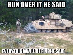 The 13 funniest military memes of the week - Genius Meme - military-memes-funny-funniest-army-tanker-concertina The post The 13 funniest military memes of the week appeared first on Gag Dad.