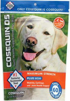 Cosequin DS Joint Health Supplement for Dogs Plus MSM - 120 Soft Chews *** Do hope that you actually do enjoy our picture. (This is an affiliate link) Cosequin Ds, Stuff For Free, Paws And Claws, Pet Treats, Dog Chews, Your Dog, Strength, Pets, Planet 1