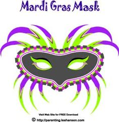 Convert masks into SUNGLASSES so your kids will wear them. FREE Mardi Gras Black…