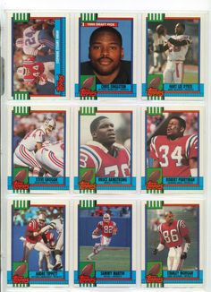 New England Patriots 1990 Topps & Topps Traded Team Football Card Set #NewEnglandPatriots