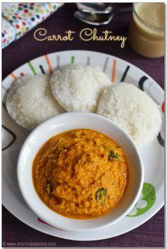 Carrot Chutney - No Coconut Chutney Recipe   Sidedish for Idli Dosa - Glute Free, Vegan