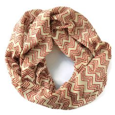 Infinity Scarf Chevron Red by Meghna Dave