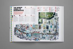 Marunouchi - Editorial Map Illustration by studio Hey for Monocle magazine