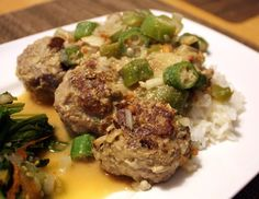 Central African Republic  - Kanda ti Nyma Recipe (Beef Meatballs with Peanut Butter Stew)