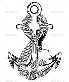 Snake and Anchor #graphicriver