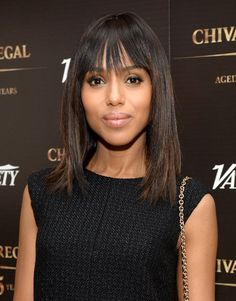 Kerry Washington: Kerry Washington's subtle chestnut highlights added dimension to her shoulder-length haircut.