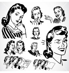 Free '50s Love themed clipart | Vintage Vectors | Royalty ...
