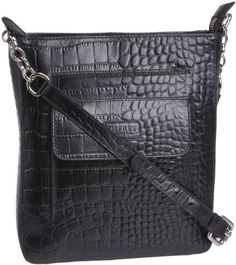 5aca41a973 Osprey London Women s Carapace-polished Croc Cross Body Bag