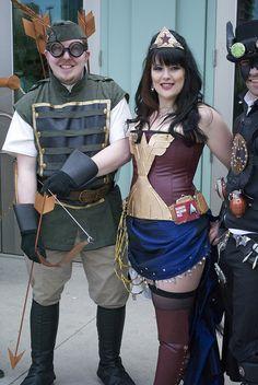 Steampunk Wonder Woman by homie bear, via Flickr