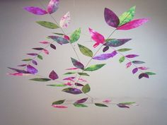 Pansy-Violet-Limoncello Hand Dyed Dappled Leaf by MoonLilyMobiles