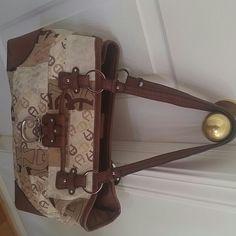 """Authentic Etienne Aigner Bag Measures 17 x 9"""", Leather straps, trim & bottom Etienne Aigner Bags"""