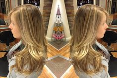 We love this #blonde #balayage from Harper at our #Woodbury location! Look at the way it catches the light! #SpalonMontage #SummerHair