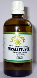 eucalyptus oil - insect bites, blisters, skin irritations such as scrapes, cuts, mouthwash, relieves sinus pressure (rub on temples), relieves headaches, relieves muscle pain (add to massage oil), fever,