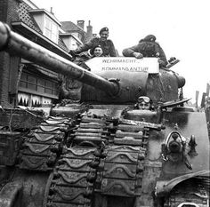 A Sherman tank of The Canadian Grenadier Guards, Almelo, Netherlands, April 5th 1945.