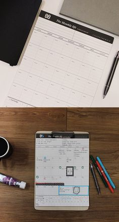 Large The Monthly Life Schedule Notepad