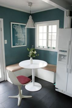 Not just the green, but the idea of buying a cheap picnic table to use as a temporary island and dining table in the kitchen. Description from pinterest.com. I searched for this on bing.com/images