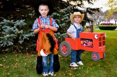 Tractor Mac costume gets used by younger brother ;-)