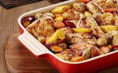 One-Pan Baked Chicken with Carrots & Potatoes Recipe - Kraft Canada One Pan Chicken, Stuffed Whole Chicken, Baked Chicken, Cheesy Chicken, Carrots And Potatoes, Chicken Potatoes, Fingerling Potatoes, Potato Recipes, Chicken Recipes