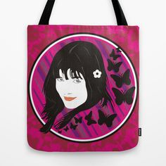 girl&butterflies Tote Bag by creaziz - $22.00