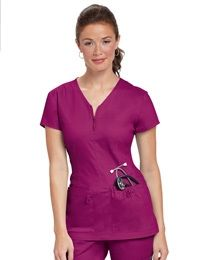 Womens Scrub Jackets - For a lot of of us, style signifies adapting new, trendy and creatively made outfits. All of us would like to look stylish and Spa Uniform, Scrubs Uniform, Uniform Ideas, Scrubs Pattern, Top Pattern, Stylish Scrubs, Koi Scrubs, Scrub Jackets, Medical Scrubs