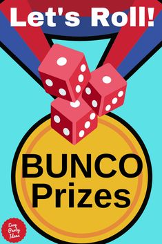 Bunco prizes ideas and bunco rules for distributing prizes at your next bunco dice game. Bunco Rules, Bunco Game, Bunco Party, Party Fun, Party Prizes, Game Prizes, Party Games, Bunco Themes, Bunco Ideas