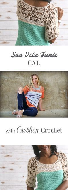 Sea Isle Tunic- August CAL - Cre8tion Crochet