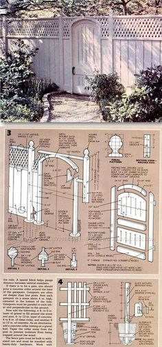Wood Fence Plans - Outdoor Plans and Projects | WoodArchivist.com