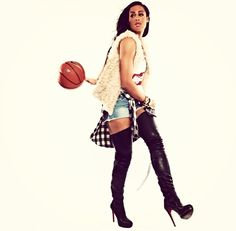 e6a9ff2ecf04 Basketball Skyler Diggins Outfit Thigh High Boots Vest Plaid Shorts Clothes  Fashion Sports
