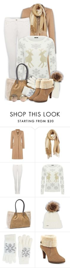"""""""Christmas Sweater"""" by kiki-bi ❤ liked on Polyvore featuring Unpaired, M&Co, UGG, Fits and Anne Klein"""