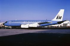 Braniff International Boeing 707-138B N108BN, circa 1969 - One of the four acquired from Qantas. (Photo: Manfred Winter, Copyright: Braniff Flying Colors Collection)