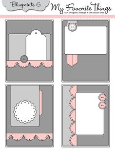 PRETTY LITTLE CARD SKETCHES FROM MFTSTAMPS.COM -USING BLUEPRINTS #6 die-namics dies