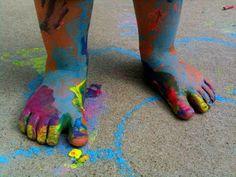 Play Create Explore: Sidewalk Paint