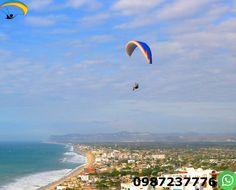 Paragliding Crucita Ecuador Enjoy paragliding for 12 to 15 minutes and feel the adrenaline of adventure tourism.