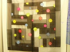 """modern pojagi with """"bubbles"""" floating over the surface in more pure hues  #shadeproject"""