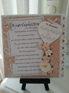 HosLindhjem: Bryllupskort