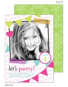 Party Banners Photo Invitations