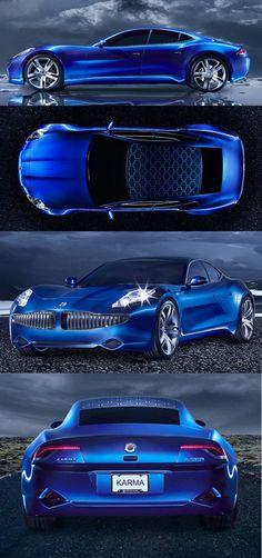 ✤ Fisker-Karma-rear-view solar panel eco friendly car...