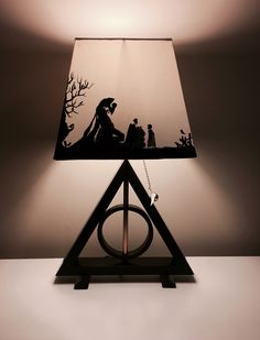 Harry Potter Lamp. Deathly hallows. Do it yourself.