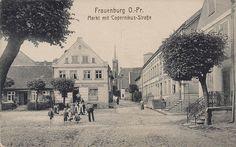 Rynek (Markt), Frombork - 1910 rok, stare zdjęcia