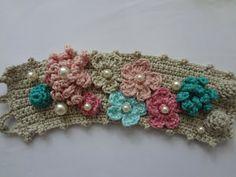 New cuffs / crocheted bracelets via Little Treasures