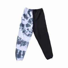 Large Half and Half Tie Dye Black White Unisex Adult Sweatpants Joggers - - Unisex adult large sweatpants Half black and half tie dye Banded bottoms. Cute Lazy Outfits, Sporty Outfits, Teen Fashion Outfits, Tie Dye Pants, Tie Dye Shirts, Cute Sweatpants Outfit, Tie Dye Fashion, Tie Dye Outfits, Looks Vintage
