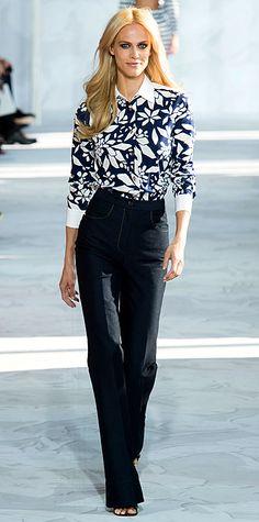 Runway Looks We Love: New York Fashion Week - Spring/Summer 2015 from #InStyle - Diane von Furstenberg