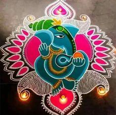 Rangoli Photos, Indian Rangoli Designs, Rangoli Designs Latest, Simple Rangoli Designs Images, Rangoli Designs Flower, Colorful Rangoli Designs, Flower Rangoli, Kolam Designs, Ganesh Rangoli
